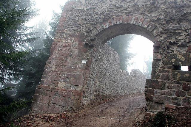 Das Burgtor ist bereits saniert