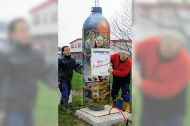Schliengen lässt die Flaschen aufbauen