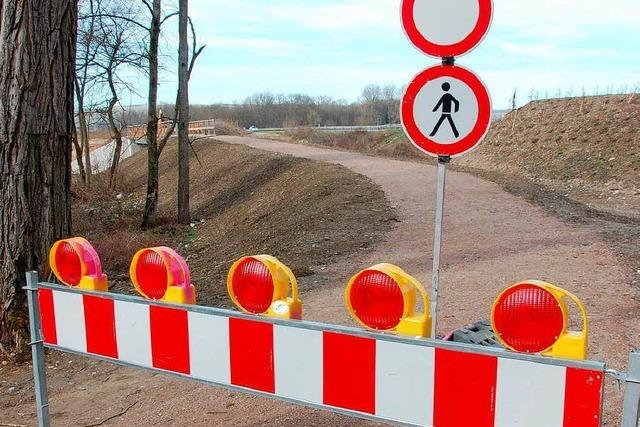 Neuer Belag für Rheinweg
