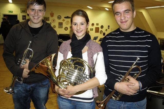 Dreimal Gold für die Stadtmusik
