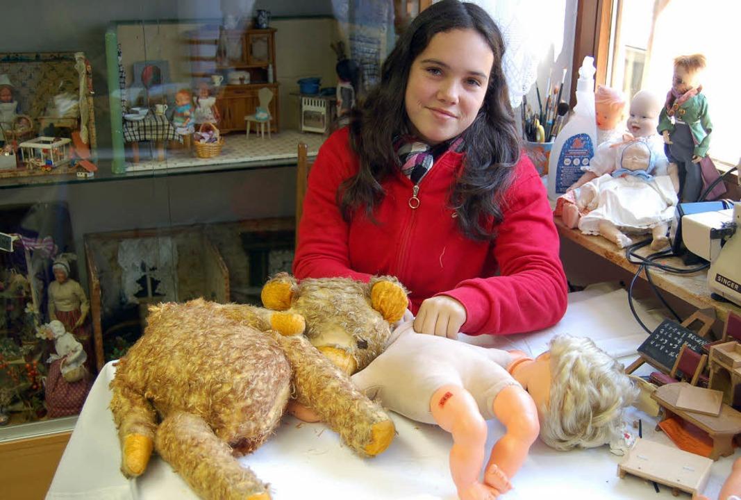 Eigentlich wollte sie ein Gärtnerei-Pr...eten Puppen und Plüschtieren gelandet.  | Foto: claudia renk