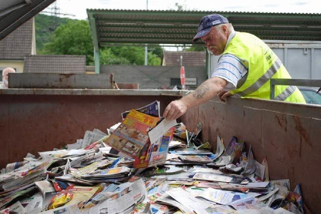 Die Recyclinghöfe verwerten jährlich gut 18000 Tonnen Abfall