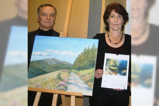 Ein malerisches Tal als Kalender