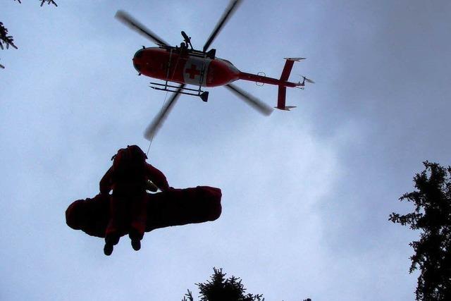 Schwieriger Rettungseinsatz für zwei Waldarbeiter am Belchen