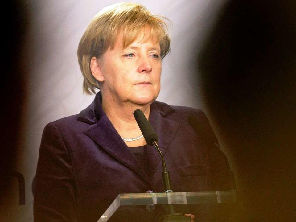 Gut beschattet: Wenn Angela Merkel nac..., sind die Sicherheitsmaßnahmen enorm.    Foto: dpa