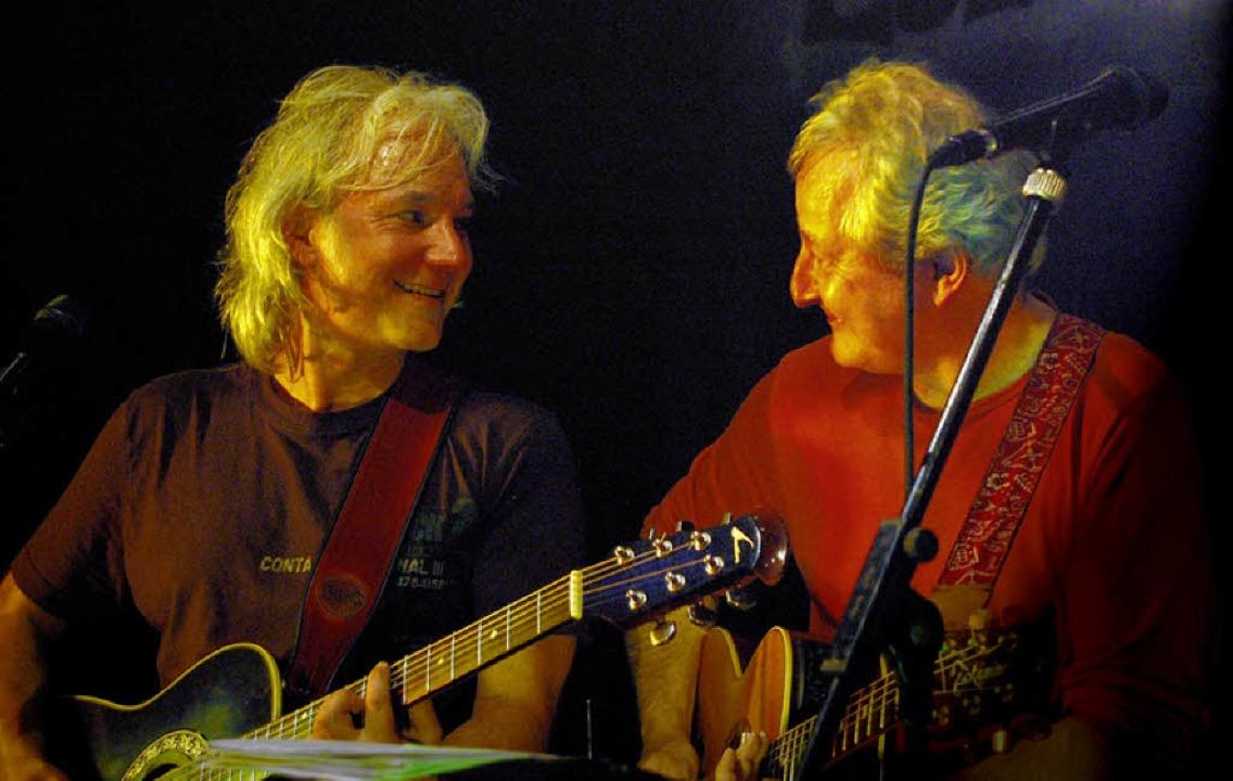 Deyda und Lehmann auf der Bühne.   | Foto: bz