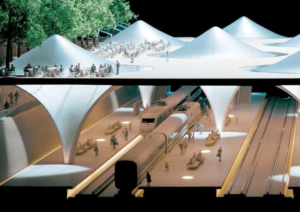 <ppp> und der geplante Tiefbahnhof.</ppp>  | Foto: dpa