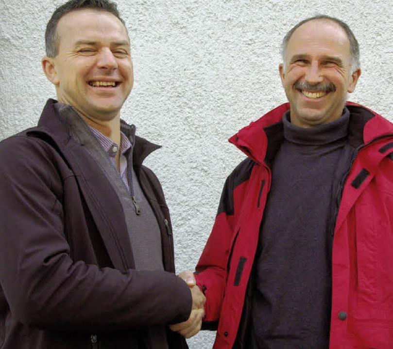 Ralph Baumann, Vorsitzender der Ending..., freuen sich auf die Zusammenarbeit.   | Foto: agnes pohrt