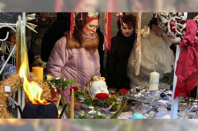 Schneeflocken beim Christkindlemarkt