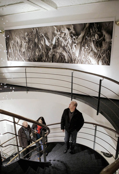 Eine ungewöhnliche Ausstellung mit Wer...e Januar im Lighthouse Lahr zu sehen.   | Foto: Christoph Breithaupt