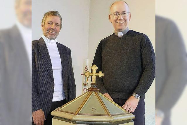 Taufbecken aus Zell wertet die Adelbergkirche auf