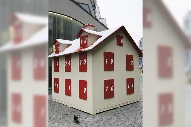 Adventstürchen öffnen sich am Chesterplatz