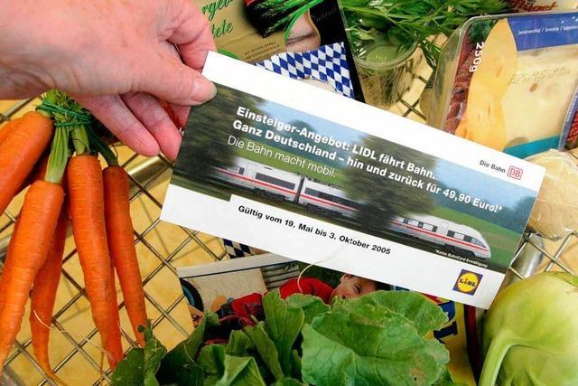 Lidl verkauft verbilligte Bahn-Fahrkarten