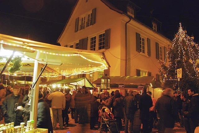 Martinsplatz im adventlichen Lichterglanz