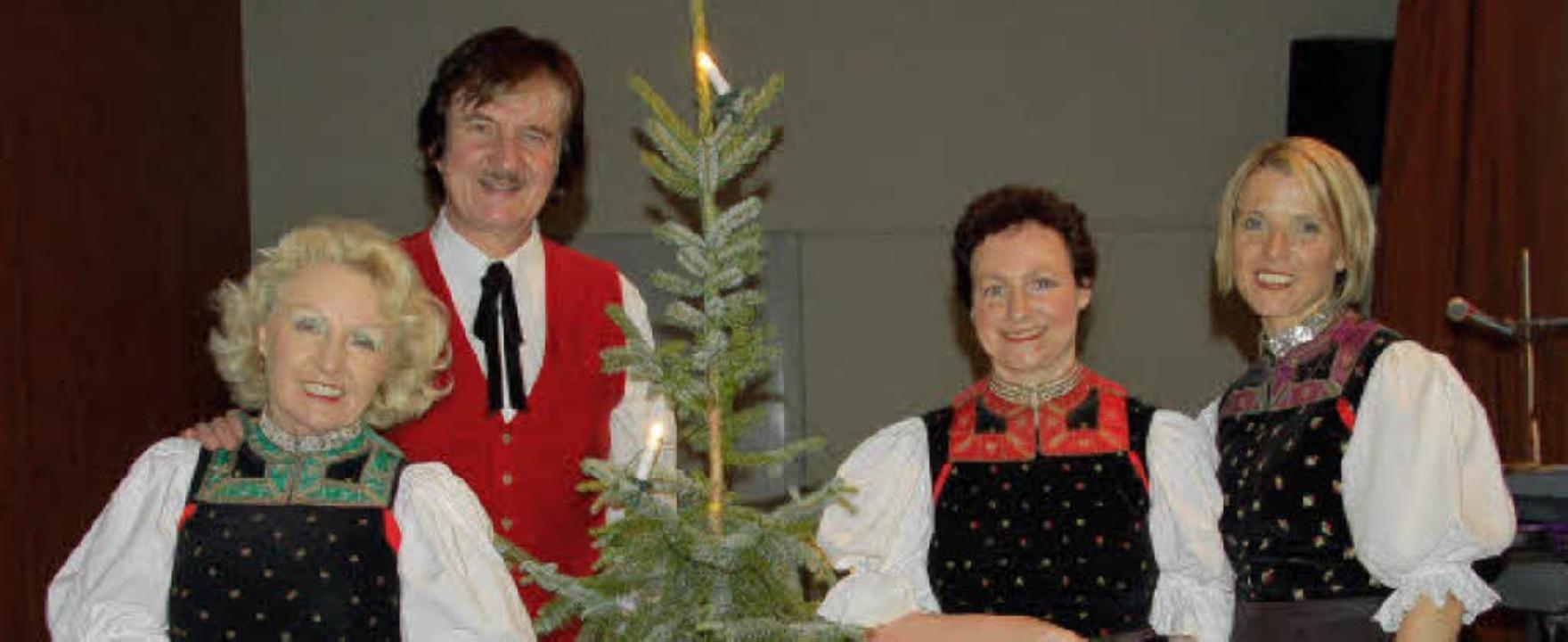 Beliebte Gäste beim Altenwerk in Reute: die Schwarzwaldfamilie Seitz  | Foto: Pia Grättinger