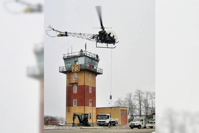 Demontage per Hubschrauber