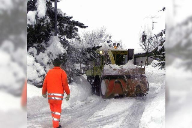 Schneeräumen: Gemeinde ist in der Zwickmühle