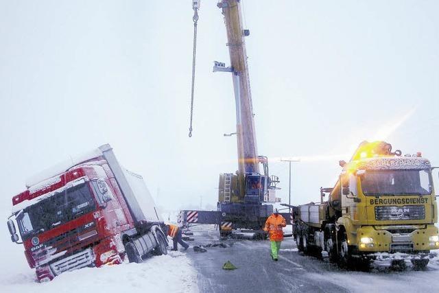 Schnee behindert Verkehr