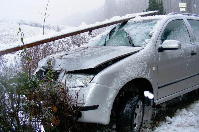 19-Jährige Autofahrerin hat Glück im Unglück