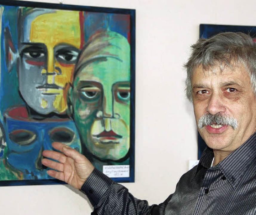 Werke von Wolfgang Berthold sind im Ku...eiamt noch bis zum 7. Januar zu sehen.  | Foto: pia grättinger