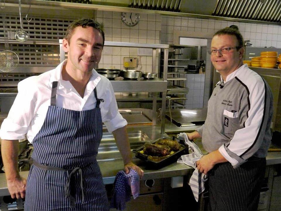Die beiden Köche Stefan Rottler (links) und Martin Feger.  | Foto: Jörg Reitmayer