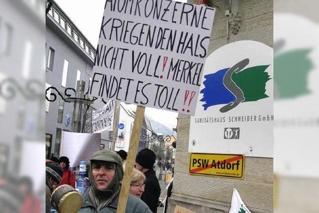 Die Atdorf-Gegner kritisieren den Raumordnungsbeschluss heftig