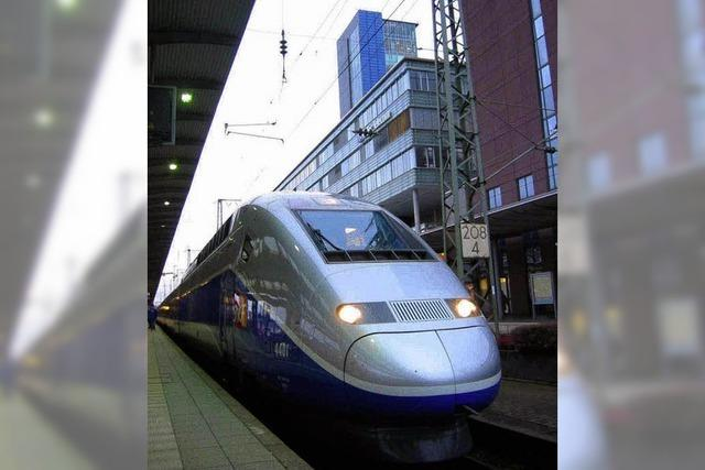 Der TGV nach Freiburg ist voll auf Kurs