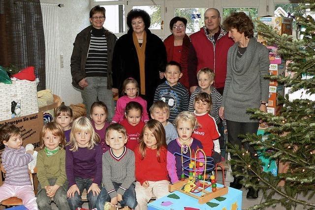 Geschenke für rumänische Kinder