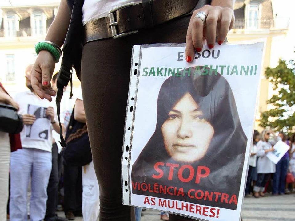 Zum Tode verurteilt: Die Iranerin  Sakineh Mohammadi Aschtiani.    Foto: dpa