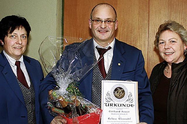 Gerhard Bauer spielt seit 40 Jahren Blasmusik