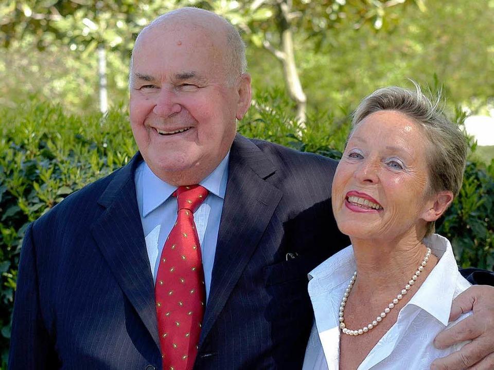 Ehrenbürger Eugen Martin mit seiner Frau Ingrid.  | Foto: Ingo Schneider