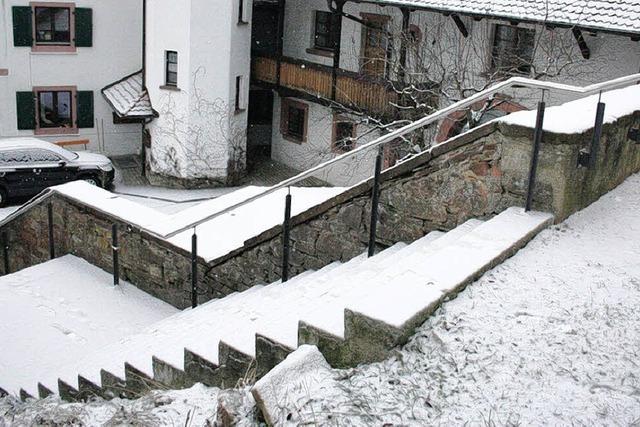 Treppenaufgang zum Kirchplatz nun sicherer