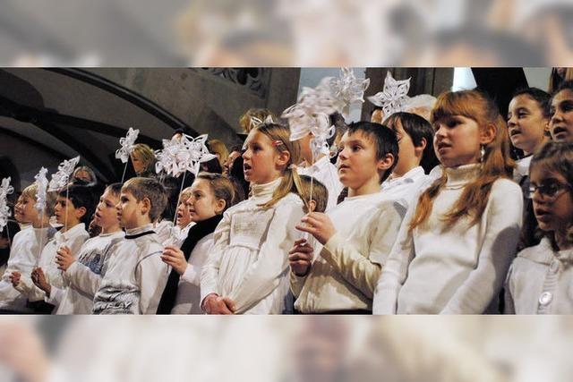 Aufmerksame junge Sänger, die auch gut zuhören