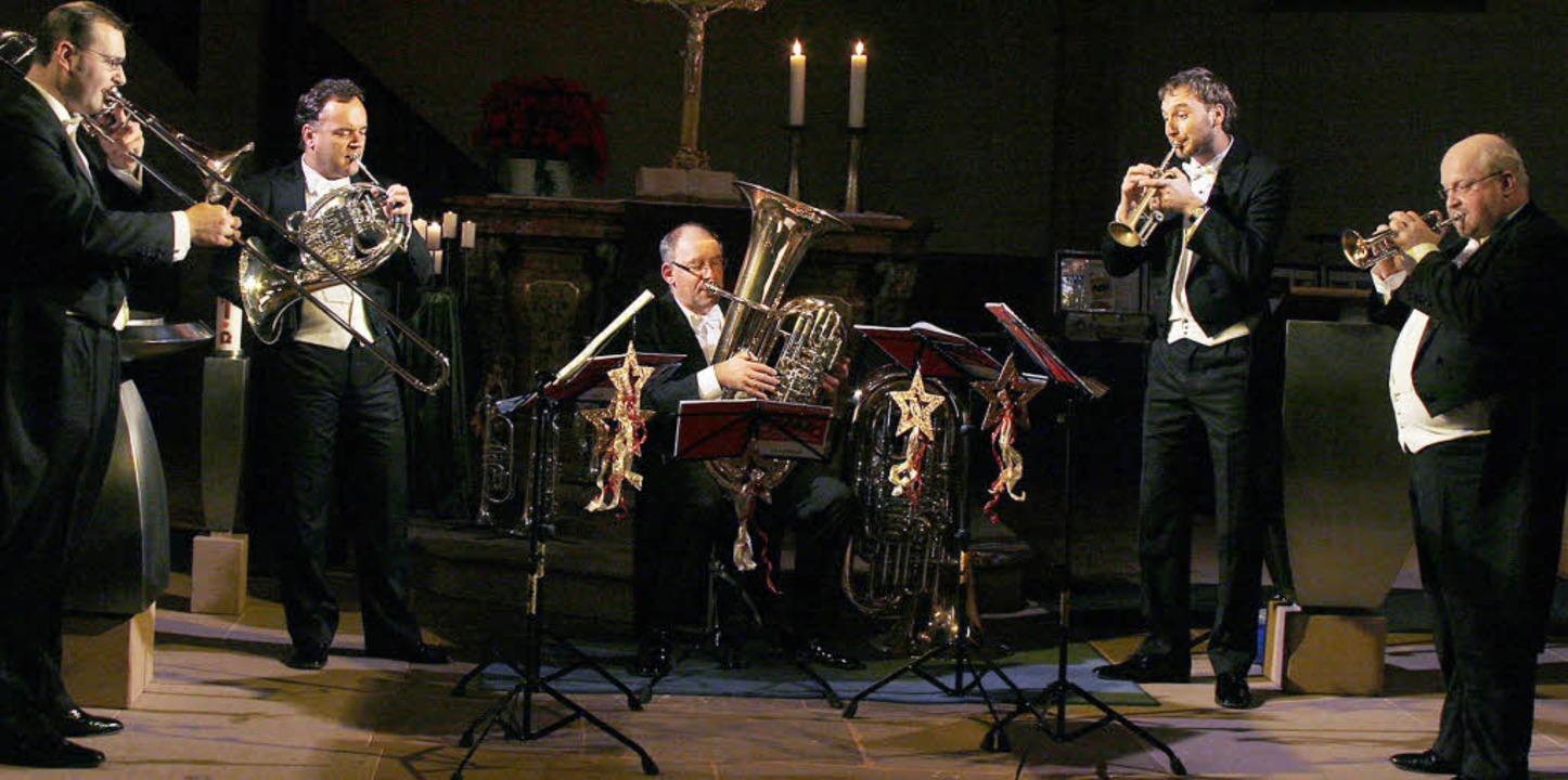 Immer ein Hauch Samt über der Musik vo... und   Hans Zellner (beide Trompete).   | Foto: Heidi Fössel