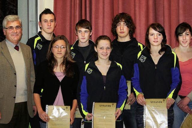 Lob für herausragende sportliche Leistungen 2010