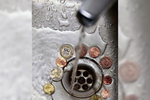 Wasser wird 10 Cent teurer