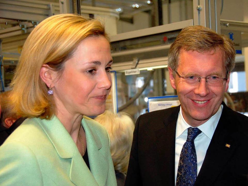 Christian Wulff und seine Frau Bettina.  | Foto: Sylvia Timm