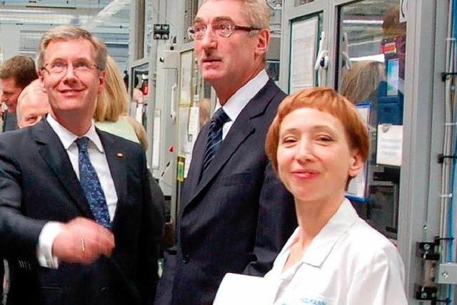 Bundespräsident Wulff beeindruckt von Sick