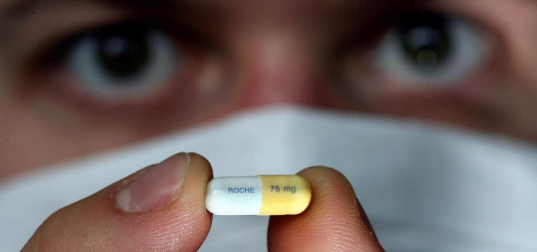 Tamiflu-Tablette  | Foto: Verwendung weltweit, usage worldwide