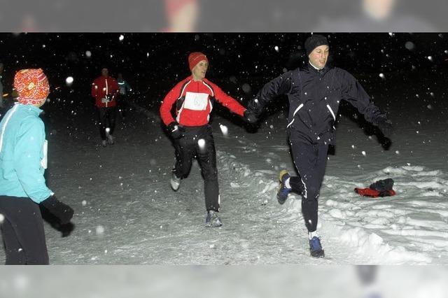 Im Schneetreiben auf Rekordjagd