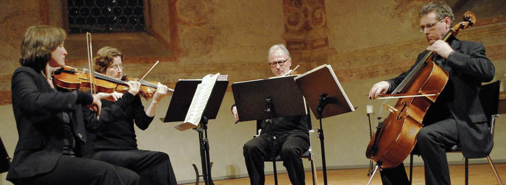 Das Cosmas-Quartett spielt für den  Bürgersozialfonds in der Martinskirche.   | Foto: Beatrice Ehrlich