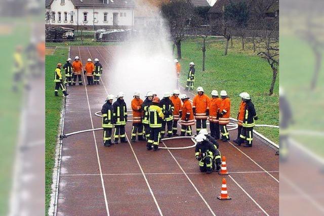 Training für die Feuerwehr