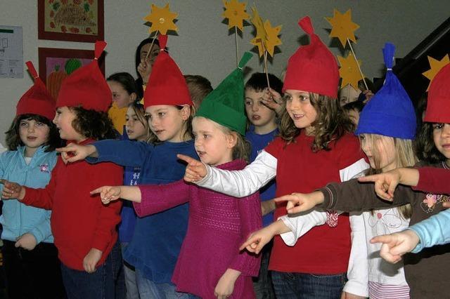 Horbener Weihnachtswichtel wünschen fröhliches Fest
