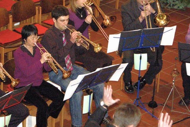 Der Posaunenchor Ottoschwanden gestaltete ein schönes Konzert