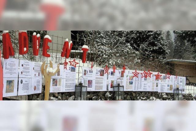 In Bernau gibt's einen Freiluft-Adventskalender