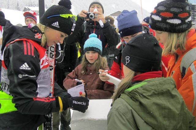 Bernauer Skifahrer trafen Steffi Böhler
