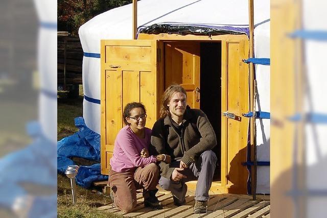 Eine mobile Immobilie eckt im Elsass an