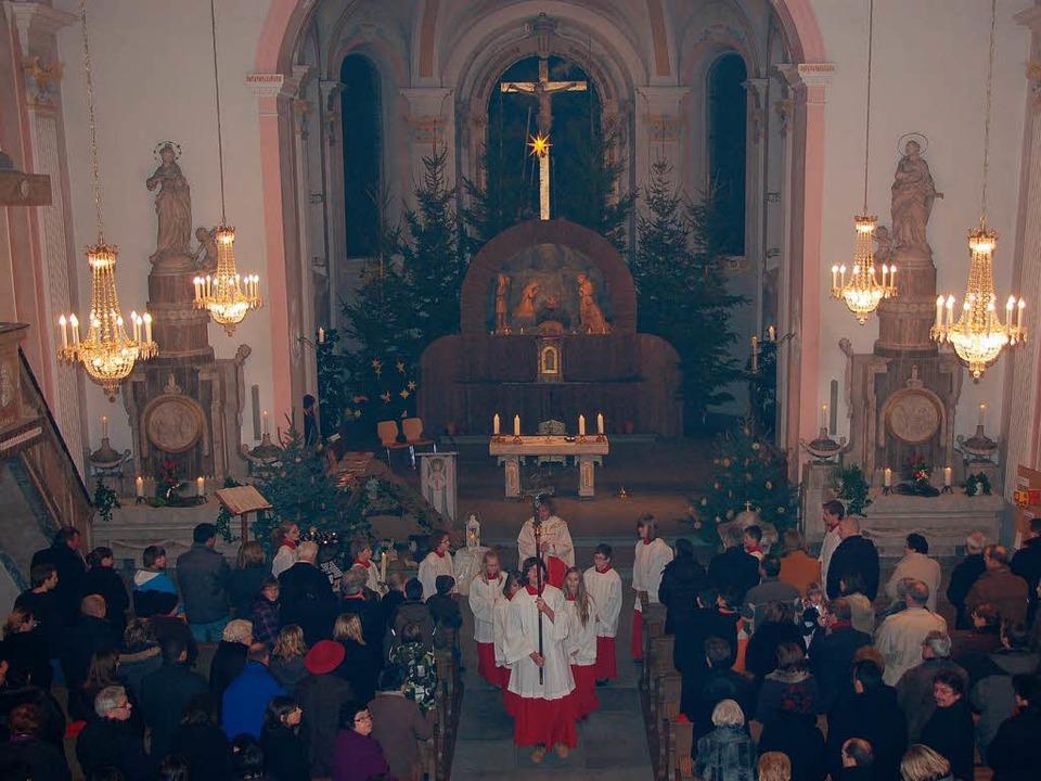 Zum feierlichen Weihnachtsgottesdienst...einheit in die Stühlinger Stadtkirche.  | Foto: Jutta Binner-Schwarz