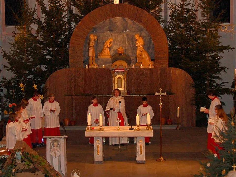Zum  Weihnachtsgottesdienst am Heilige...einheit in die Stühlinger Stadtkirche.  | Foto: Binner-Schwarz