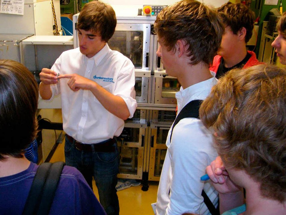 Großen Stellenwert hat bei Dunkermotor...dung und Förderung  junger Fachkräfte.  | Foto: Martha Weishaar